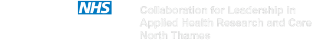Collaboration for Leadership in Applied Health Research and Care North Thames logo